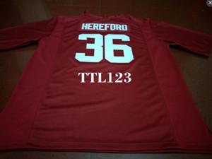 Herren # 36 Mac Hereford Alabama Crimson Tide rot schwarz weiß College Jersey oder benutzerdefinierten Namen oder Nummer Trikot