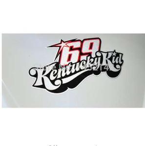 1pcs racing decals MotoGP champion Nicky Hayden No.69 stickers reflective car-styling Kentucky kid motorcycle sticker motocross