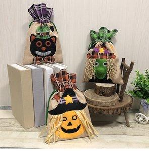 2018 YENI Cadılar Bayramı Hediye Çanta Şeker çorap Çanta Cadılar Bayramı Süslemeleri dokunmamış Kabak Tote Çanta Hayalet Festivali Mall Oteller Hediye Çanta