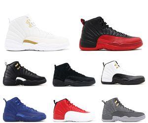 2018 с коробкой мужская и женская баскетбольная обувь кроссовки 12S XII Flu Game Royal Taxi французский синий для мужчин спортивная обувь высокого покроя