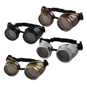 JECKSION Sunglasses Men Steampunk Goggles Óculos de soldadura Punk gótico Óculos Cosplay Unisex Victorian do vintage 4colors # LSB25