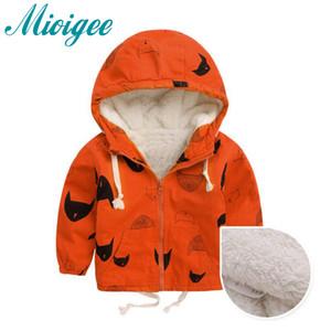 Mioigee 2017 jaqueta para o menino Bebê Casaco Com Capuz Meninos Casaco Cappotto Bimbo Roupas de Bebê Outono Inverno bebê casaco crianças roupas
