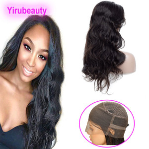 Brazilian Virgin Hair 360 Lace Frontal Wigs 8-26inch Natural Color Body Wave 360 Lace Wig Adjustable Straps Body Wave Lace Wigs