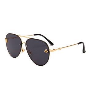 2021 Brand Design Sonnenbrille Frauen Männer Marke Designer Spiegel Gute Qualität Mode Metall Übergroße Sonnenbrille Vintage Weibliche Männchen UV400