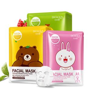BIOAQUA 12 tipos Squeeze Máscara Folha Hidratante Rosto Tratamento Da Pele Oil-control Máscara Facial Casca Cuidados Com A Pele Pilatos Atacado