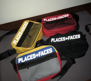 PLACES + وجوه الحياة 3M عاكس ألواح التزحلق عشاق حقيبة جذاب لطيف عارضة الرجال الكتف حقيبة P + F البسيطة الهاتف المحمول حزم حقيبة التخزين