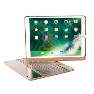 """Pad Pro 10.5 """"Smart Cover 360 Rotating Case Cover Retroilluminazione in alluminio Cassa della tastiera Bluetooth C086 Quattro colori"""