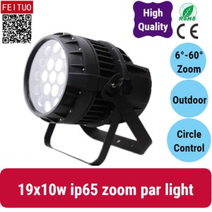 2x vendita calda 4in1 RGBW 19 * 10w LED ZOOM Par Luce impermeabile led par può illuminare Uso esterno