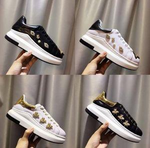 Novo Estilo Moda abelha Venda Marca mulheres de couro genuíno ocasional pares sapatos de alta qualidade da rainha Modelo atam Sneakers Eur35-40
