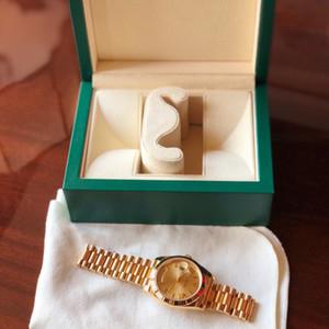 Luxo 18 K Presidente do Ouro Data-Date Sapphire Cystal Genebra Homens Relógios Movimento Mecânico Automático Masculino Relógio de Pulso Relo Reloj