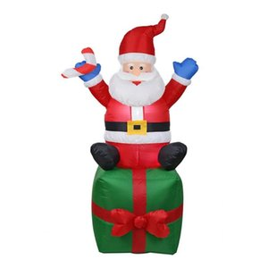 Inflatable Santa Claus Christmas Outdoors Ornaments Xmas New Year Party Home Shop Yard Garden Decoration EU Plug
