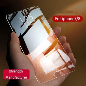 9H 2.5D Arc Edge Nano película templada media pantalla irrompible a prueba de explosiones HD protector de pantalla del teléfono celular para Apple iPhone 6 7 8 X