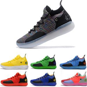 أحدث ZOOM KD Kevin Durant 11 XI seattle بجنون العظمة الرموز التعبيرية بارد رمادي Triple Black Elite للرجال أحذية كرة السلة رياضية رياضية الهواء