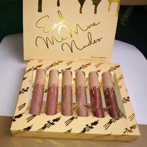 في المخزن!! مستحضرات التجميل Send Me More Nudes Matte Lipstick 6pcs / set The Vacation Edition Collection DHL shipping