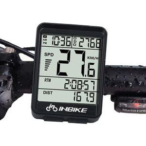 INBIKE IN321 Bicycle Computer Waterproof Wireless LCD Odometer Bicycle Speedometer Backlightspeed bike speed sensor without battery