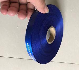 Commercio all'ingrosso di marca 1.5 cm Larghezza Lungo 100 Metri / Regalo blu Ribbon (un rotolo completo)
