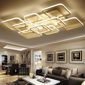 Lampadario quadrato moderno acrilico dimmerabile telecomandato Decorazione domestica interna Lampade a sospensione a LED di moda Lampada da soffitto a led