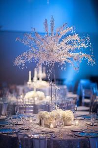 90 cm tall akrilik kristal düğün ağacı yol açar düğün centerpiece kristal noel ağaçları Parti Prop masa centerpieces 6 adet