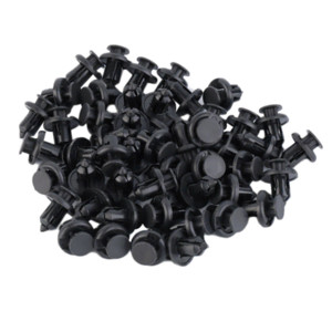 10mm 50Pcs Auto Vehicle Car Bumper Clips Retainer Fastener Rivet Door Panel Fender Liner For Honda hot selling