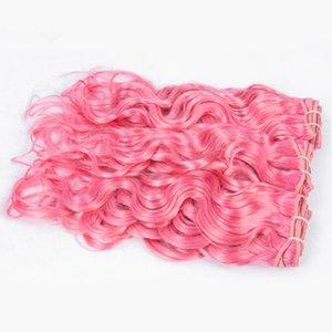 브라질 #pink 워터 웨이브 처녀 인간의 머리카락 Weaves 브라질 버진 인간의 머리카락 Weft 확장기 3 번들 많이 무료 배송