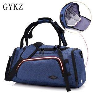 GYKZ 2018 bolsa de viaje multifuncional bolsa de gimnasia con zapatos independientes de bolsillo mujeres y hombres deporte aptitud mochila HY159