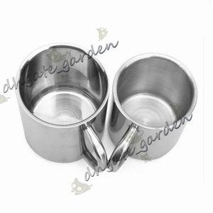 Taza de café de acero inoxidable de doble capa Breve Color sólido Taza de agua de leche portátil Viaje que acampa Drinkware