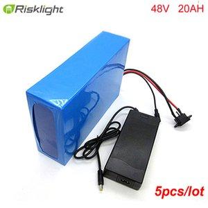 5pcs / lot bicicleta eléctrica 48v 20ah batería de iones de Li personalizada 48V 1000W con BMS