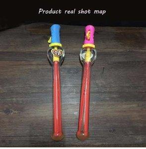 Big Size 46cm Outdoor Toys Bong lunga pistola Bubble Bar Sticks senza acqua Forma di spada occidentale per bambini bolla di sapone giocattolo