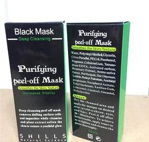 2018 Masque anti-âge noir anti-âge 50 ml SHILLS Gommage purifiant nettoyant en profondeur Masque facial noir Enlève les points noirs Masques peelings