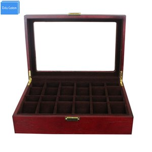 Gift Luxury for Brand Watch Box Black Case Storage&Display Case 12 Grids Box Rose Wood Walnut Mahogany Box Storage Display Case Cushions