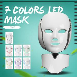 2018 Hot nouveau produit IPL Luminothérapie Skin Rejuvenation Led cou masque avec 7 couleurs pour utilisation à domicile Livraison gratuite