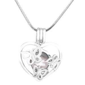 Ciondoli in argento a forma di farfalla Hot Hot Cage Pendants Beads Pendant Cage Essential Locket per collana 5pcs P185