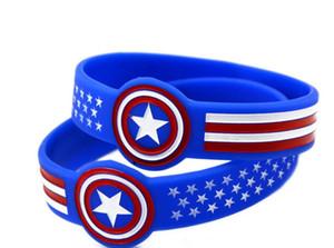 Капитан Америка браслеты браслет силиконовый браслет синий браслет