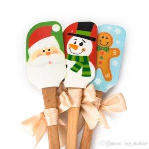 Santa Claus Cuisine Silicone Crème Au Beurre De Gateau Spatule Mixing Batter Scraper Brosse À Beurre De Gâteau Brosses Outil De Cuisson Ustensiles De Cuisine 2017 XL-370