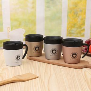Vaso de vidrio de acero inoxidable Negocios de moda Espresso Cup Originalidad Cinturón portátil Mango Taza de regalo Equipo portátil en el interior 22jq gg