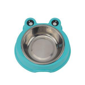 Tazón de fuente doble del cuenco del alimento del animal doméstico del tazón de fuente del animal doméstico del cuenco del alimento del gato del acero inoxidable ECO-Amistoso - 3 colores