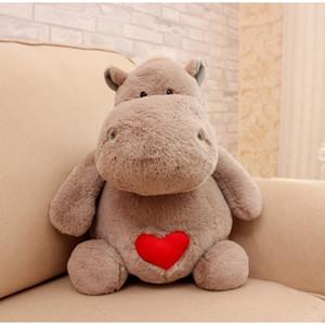 Dorimytrader Adorável Macio Gigante Animal Hipopótamo Brinquedo De Pelúcia Recheado Bonito Dos Desenhos Animados Hipopótamos Recheado Travesseiro Crianças Boneca Presente 20 inch 50 cm DY61503