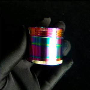 Frescas del estilo de 40mm Rainbow Molinillos de hierba 3 Capa de Tabaco Grinder Polvo Grinder Tabaco Grinder El Clipper Grinders