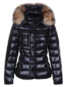 Clássico Da Marca Das Mulheres Inverno Quente Para Baixo Casaco Com gola de Pele De Penas Vestido Jaquetas Das Mulheres Ao Ar Livre Para Baixo Casaco Mulher Moda Jaqueta Parkas M1