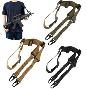Upgrade Version Tactical 2 Point Rifle gun Sling with Length Adjuster Multi-Use Quick Detach Stealth 1.5inch Bungee rifle gun sling
