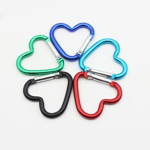 Amor bonito mini em forma de coração de liga de alumínio de fixação de montagem mosquetão Snaphook gancho titular 38 * 40mm S tamanho