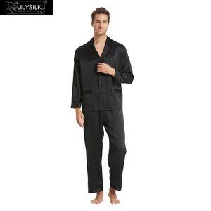 Lilysilk пижамы Мужские шелковые длинные 16 Momme чистой шелковицы новая бесплатная доставка