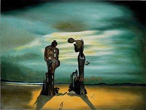 الفنانين اليدوية الشهيرة قماش اللوحة الاستنساخ salvador دالي اللوحة الجميلة لوحات فنية ديكور المنزل الفن النفط الطلاء نوم