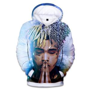 WBDDT Xxxtentacion 3D Print Men Hoodies Loose Pullover Hot Sweatshirt Front Pocket Streetwear Hip Hop Outerwear Drop Shipping