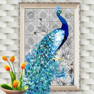Di alta qualità 32 * 45 cm 5D diamante ricamo pittura fai da te kit pavone mestiere pittura strass mosaico punto croce decorazioni per la casa