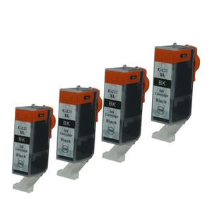 4PK Черные картриджи PGI225 Замена для принтеров Canon PIXMA IX6520 IP4820 IP4920 MG6120 MG6120 Восстановленное MG6220 Inket Printer