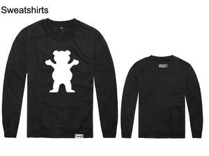 Grizzly venda quente rocawear manga longa com capuz o-pescoço hiphop primavera e outono pullover esporte homens e mulheres plus size boa qualidade 100% algodão