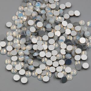 Новый SS3-SS30 Белый Опал Цвет 1440 ШТ. 3D Ногтей с Плоской Задней Крышкой Без Исправления Стразы Не Исправление Стеклянные Кристаллы Камень