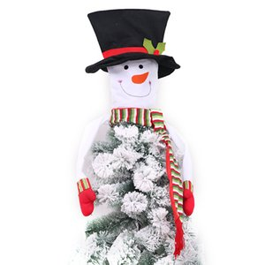 Christmas Tree Toppers Christmas Snowman Tree Topper Navidad / Vacaciones / Winter Wonderland Party Decorations Ornament Supplies 40% de descuento