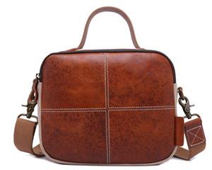 Cotton and linen canvas shoulder bag casual leather handbag fashion multi-function portable Messenger bag 2 colors